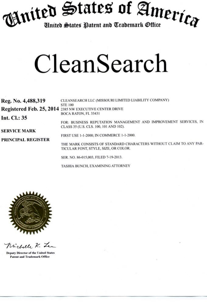 Clean Search Is a trademark